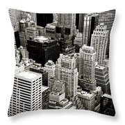 New York City From Above Throw Pillow by Vivienne Gucwa