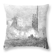 New York: Fire, 1853 Throw Pillow by Granger