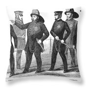New York Policemen, 1854 Throw Pillow by Granger