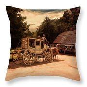Nice And Easy Throw Pillow by Lourry Legarde