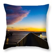 Night Approaches Throw Pillow by Shannon Harrington
