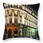 Night Paris Throw Pillow by Elena Elisseeva