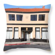 Niles California Banquet Hall . 7D12736 Throw Pillow by Wingsdomain Art and Photography