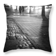 Nocturne - Night - New York City Throw Pillow by Vivienne Gucwa