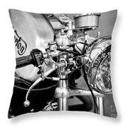 Norton Dominator Throw Pillow by Ari Salmela