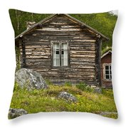 Norwegian Timber House Throw Pillow by Heiko Koehrer-Wagner