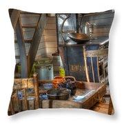 Nostalgia Country Kitchen Throw Pillow by Bob Christopher
