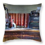 Nostalgia Office Throw Pillow by Bob Christopher