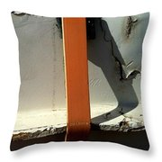 Nothing Rhymes With Orange Too Throw Pillow by Marlene Burns