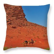 Nubian Camel Rider Throw Pillow by Tony Beck