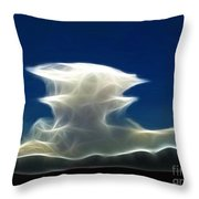 Nuclear Clouds Throw Pillow by Methune Hively