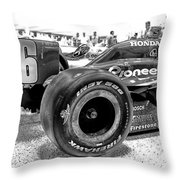 Number 16 Indy Throw Pillow by Lauri Novak