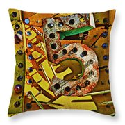 Number Five Throw Pillow by Garry Gay