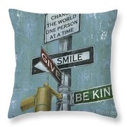NYC Inspiration 1 Throw Pillow by Debbie DeWitt