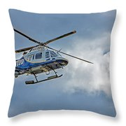Nypd Throw Pillow by Susan Candelario