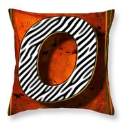 O Throw Pillow by Mauro Celotti