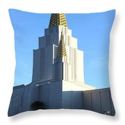 Oakland California Temple . The Church of Jesus Christ of Latter-Day Saints . 7D11377 Throw Pillow by Wingsdomain Art and Photography