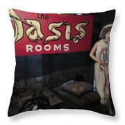 Oasis Bordello Basement - Wallace Idaho Throw Pillow by Daniel Hagerman