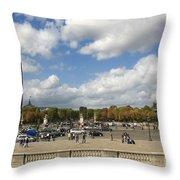 Obelisque Place De La Concorde. Paris. France Throw Pillow by Bernard Jaubert