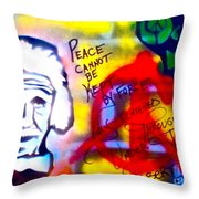 Occupy Einstein Throw Pillow by Tony B Conscious