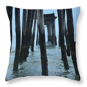 Ocean City 59th Street Pier Throw Pillow by Bill Cannon