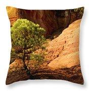 Ocher. Roussillon. Luberon Throw Pillow by BERNARD JAUBERT