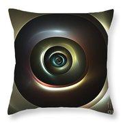 Ocular Lens Throw Pillow by Kim Sy Ok