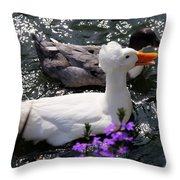 Oh Happy Day Throw Pillow by Karen Wiles