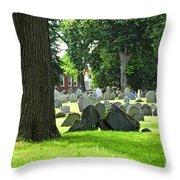 Old Cemetery In Boston Throw Pillow by Elena Elisseeva