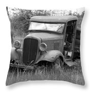 Old Chevy Truck Throw Pillow by Steve McKinzie