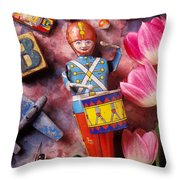 Old Childrens Toys Throw Pillow by Garry Gay