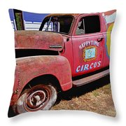 Old Circus Truck Throw Pillow by Garry Gay