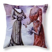 Old Fashioned Fashion Throw Pillow by Bill Cannon