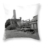 Old In Texas Throw Pillow by Nina Fosdick