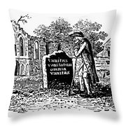 Old Man At Tombstone Throw Pillow by Granger