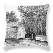 Old Quaker Meeting House Throw Pillow by Granger
