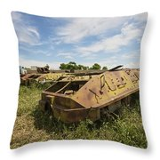 Old Russian Btr-60 Armored Personnel Throw Pillow by Terry Moore