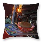 Old School Date Night Throw Pillow by Joann Vitali