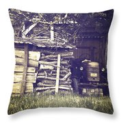 Old Shed Throw Pillow by Joana Kruse
