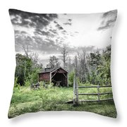 Old Shed Throw Pillow by Lori Frostad