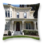 Old Victorian Camron-Stanford House . Oakland California . 7D13440 Throw Pillow by Wingsdomain Art and Photography