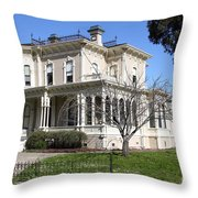 Old Victorian Camron-Stanford House . Oakland California . 7D13445 Throw Pillow by Wingsdomain Art and Photography