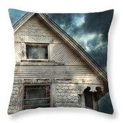 Old Victorian House Detail Throw Pillow by Jill Battaglia