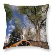Old West Water Mill 1 Throw Pillow by Darcy Michaelchuk