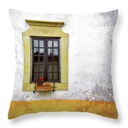 Old Window Throw Pillow by Carlos Caetano