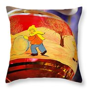 Old World Christmas Throw Pillow by Christine Till