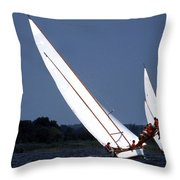 On The Boards Throw Pillow by Skip Willits