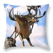 On Top Of The World Throw Pillow by Kristin Elmquist