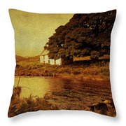 Once Upon A Time. Somewhere In Wicklow Mountains. Ireland Throw Pillow by Jenny Rainbow
