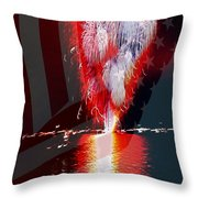 One Big Bang Throw Pillow by Cheryl Young